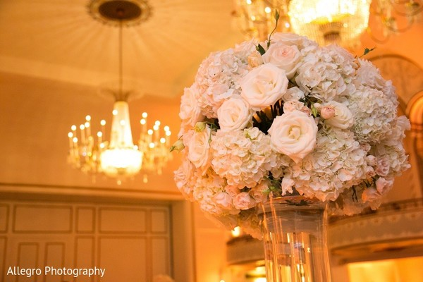 Floral & Decor in Boston, MA Indian Wedding by Allegro Photography