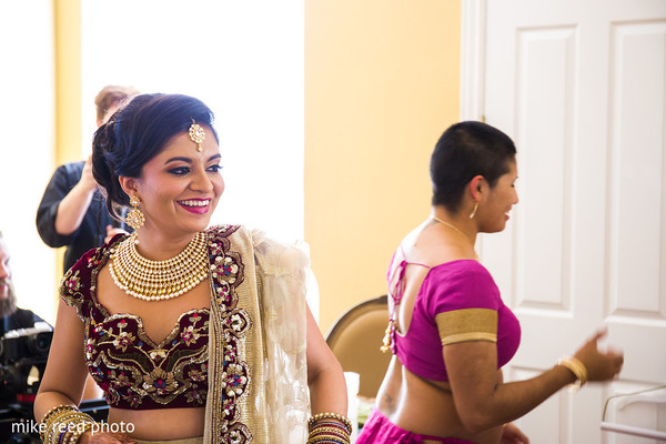 Getting Ready in New Braunfels, TX Indian Fusion Wedding by Mike Reed Photo