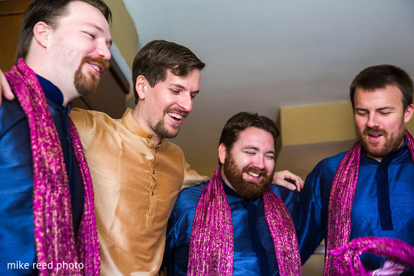 Groom Getting Ready in New Braunfels, TX Indian Fusion Wedding by Mike Reed Photo