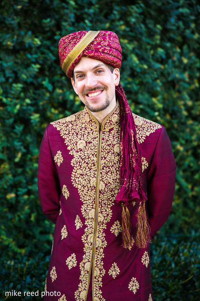 Groom Fashion in New Braunfels, TX Indian Fusion Wedding by Mike Reed Photo