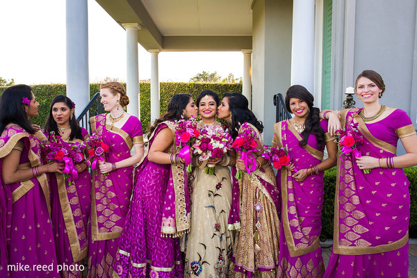 Bridal Party in New Braunfels, TX Indian Fusion Wedding by Mike Reed Photo