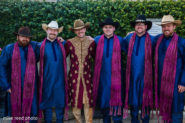 Groomsmen in New Braunfels, TX Indian Fusion Wedding by Mike Reed Photo