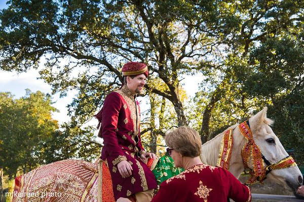 Baraat in New Braunfels, TX Indian Fusion Wedding by Mike Reed Photo