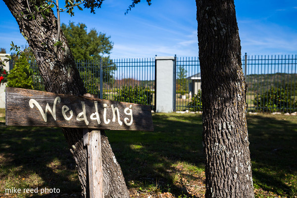 Signage in New Braunfels, TX Indian Fusion Wedding by Mike Reed Photo