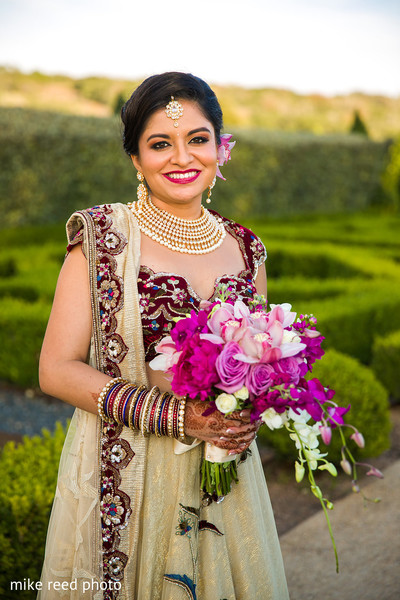 Bridal Portrait & Bouquet in New Braunfels, TX Indian Fusion Wedding by Mike Reed Photo