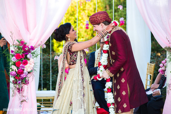 Ceremony in New Braunfels, TX Indian Fusion Wedding by Mike Reed Photo