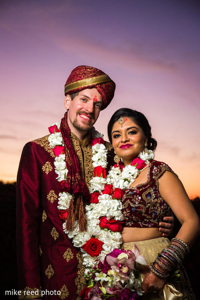 Wedding Portrait in New Braunfels, TX Indian Fusion Wedding by Mike Reed Photo