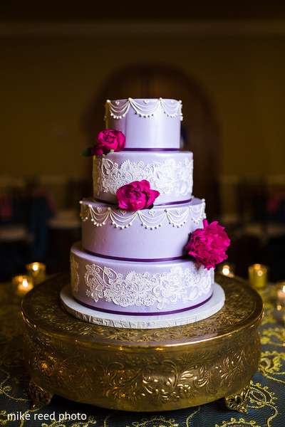 Wedding Cake in New Braunfels, TX Indian Fusion Wedding by Mike Reed Photo