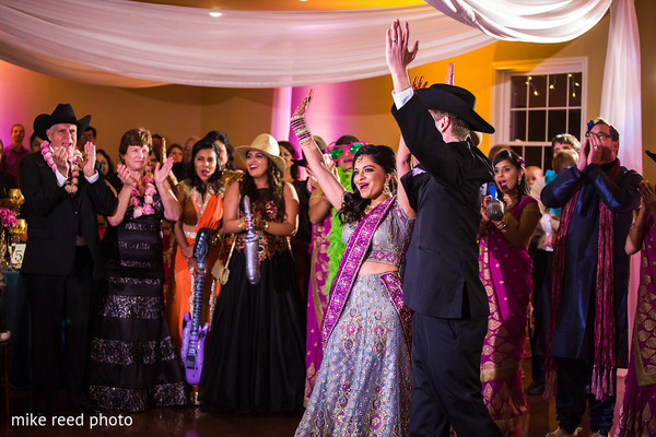 Reception in New Braunfels, TX Indian Fusion Wedding by Mike Reed Photo