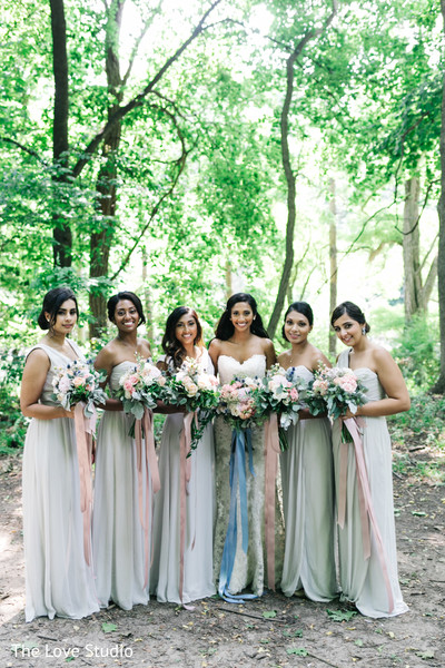 Bridal Party in Toronto, Ontario Indian Wedding by The Love Studio