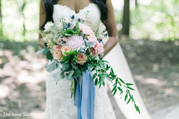 Bridal Bouquet in Toronto, Ontario Indian Wedding by The Love Studio