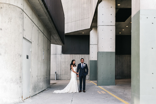Reception Portrait in Toronto, Ontario Indian Wedding by The Love Studio