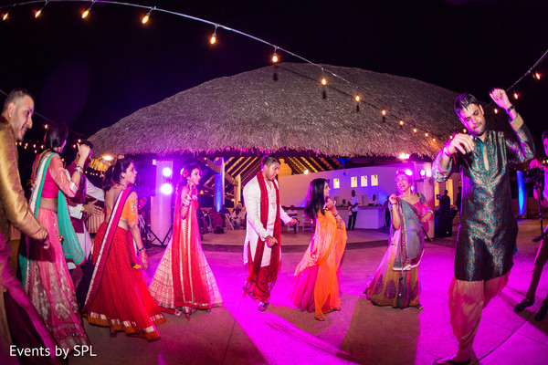 Garba in Punta Cana, Dominican Republic Indian Destination Wedding by Events by SPL