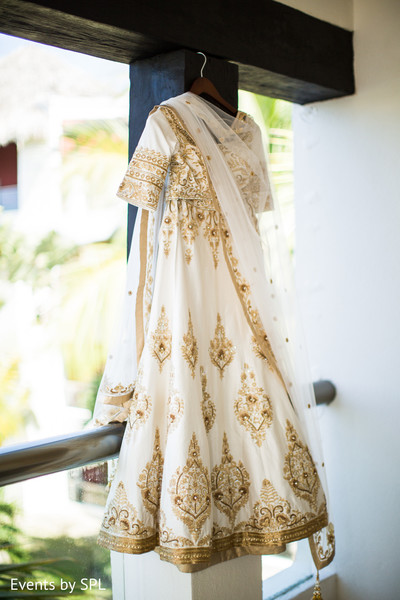 Bridal Fashion in Punta Cana, Dominican Republic Indian Destination Wedding by Events by SPL