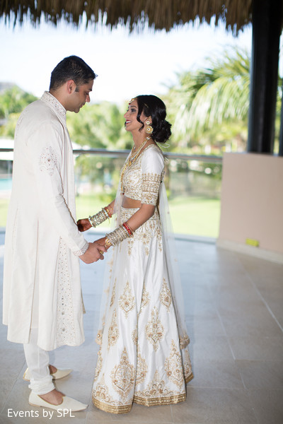 First Look in Punta Cana, Dominican Republic Indian Destination Wedding by Events by SPL