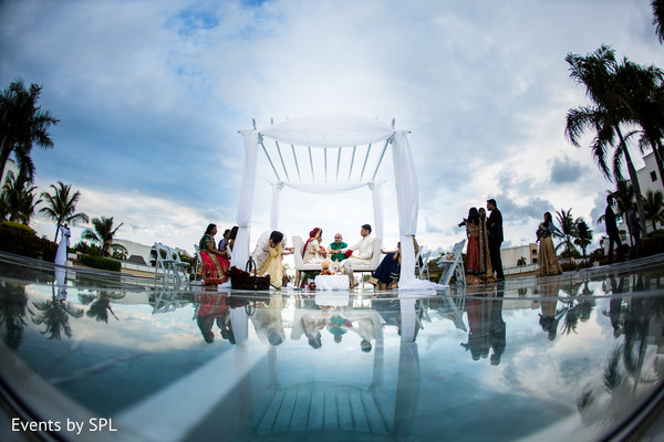Ceremony in Punta Cana, Dominican Republic Indian Destination Wedding by Events by SPL