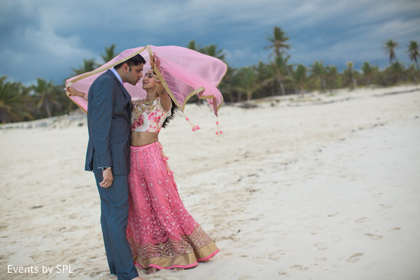 Reception Portrait in Punta Cana, Dominican Republic Indian Destination Wedding by Events by SPL