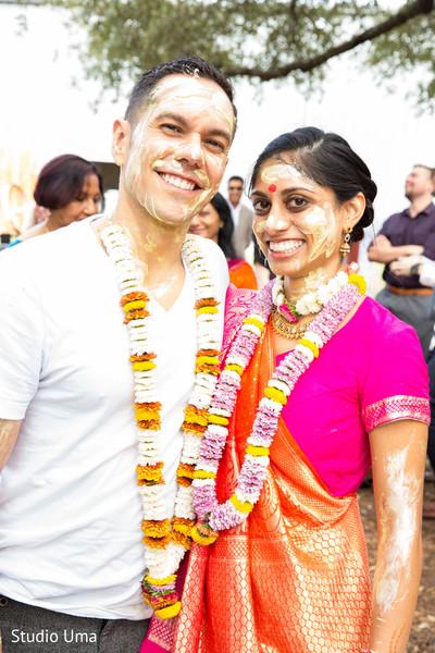 Gaye holud in Austin, TX Indian Fusion Wedding by Studio Uma
