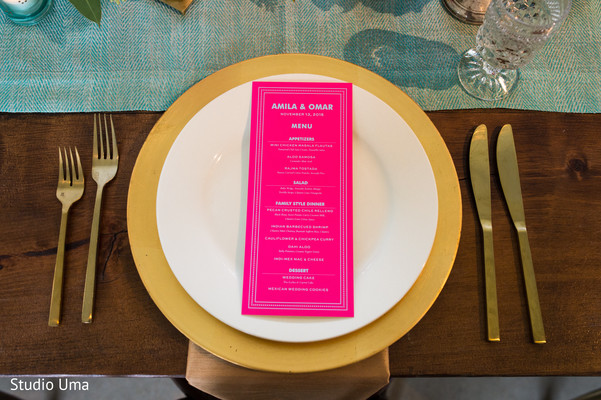 Indian wedding menu in Austin, TX Indian Fusion Wedding by Studio Uma