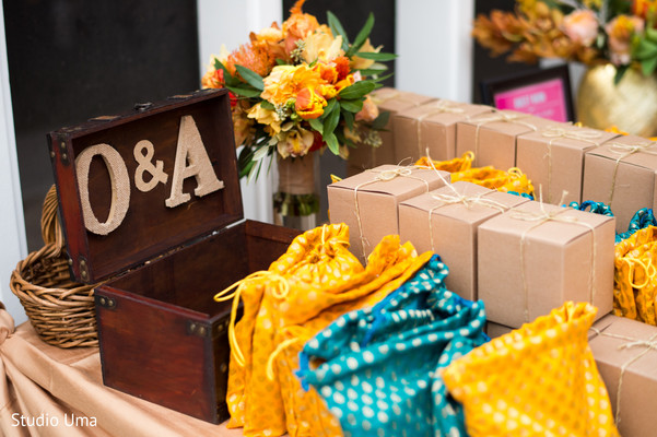 Indian wedding favors in Austin, TX Indian Fusion Wedding by Studio Uma