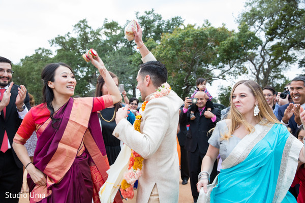 Baraat in Austin, TX Indian Fusion Wedding by Studio Uma
