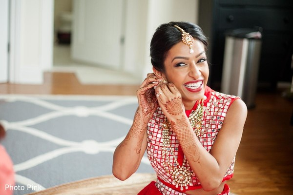 Getting Ready in New York, NY Indian Fusion Wedding by Photo Pink