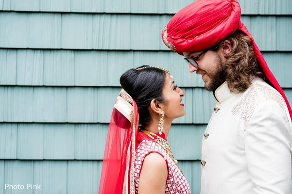First Look in New York, NY Indian Fusion Wedding by Photo Pink