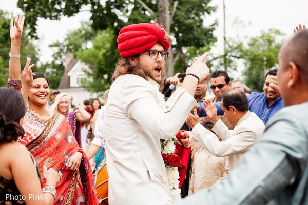 Baraat in New York, NY Indian Fusion Wedding by Photo Pink