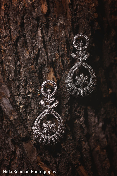 Earrings in Plano, TX Indian Wedding by Nida Rehman Photography