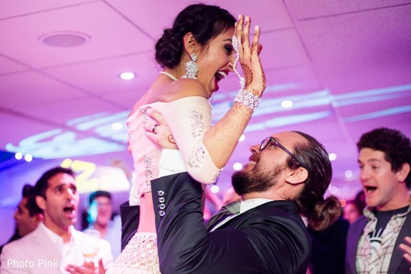 Reception in New York, NY Indian Fusion Wedding by Photo Pink