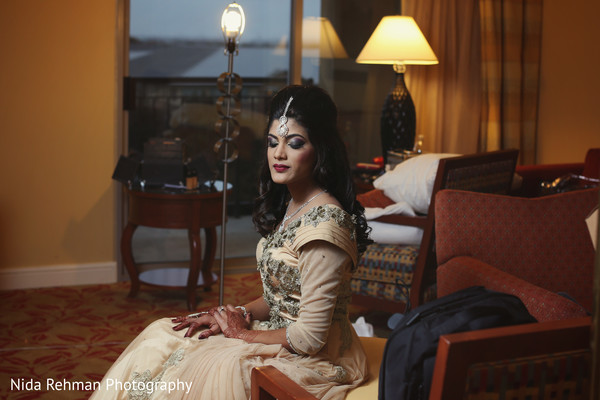 Indian bridal portrait in Plano, TX Indian Wedding by Nida Rehman Photography