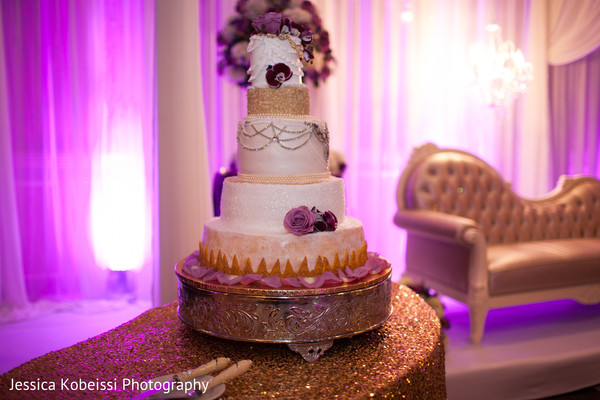 Indian wedding cake in Dearborn, MI Pakistani Fusion Wedding by Jessica Kobeissi Photography