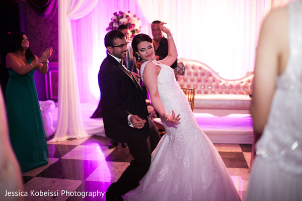 Indian wedding reception in Dearborn, MI Pakistani Fusion Wedding by Jessica Kobeissi Photography