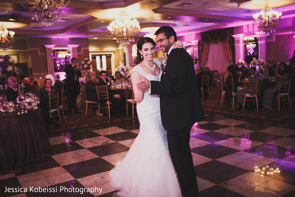 First dance in Dearborn, MI Pakistani Fusion Wedding by Jessica Kobeissi Photography