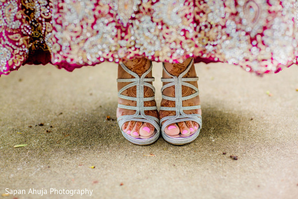 Indian bridal shoes in Chicago, IL Indian Wedding by Sapan Ahuja Photography