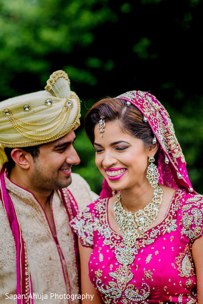 First look photography in Chicago, IL Indian Wedding by Sapan Ahuja Photography