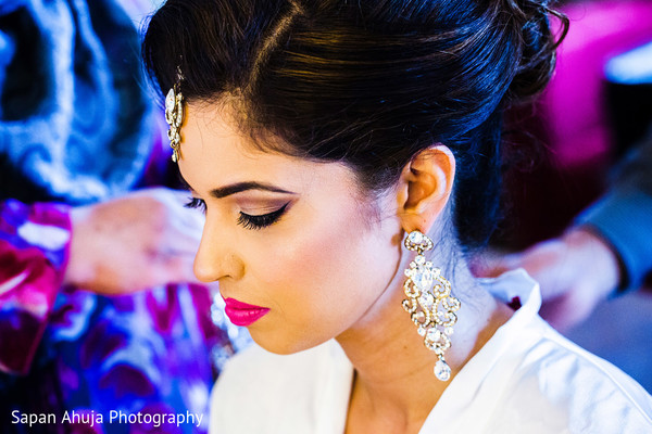 Indian bridal hair and makeup in Chicago, IL Indian Wedding by Sapan Ahuja Photography