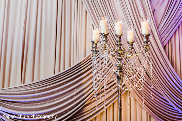 Indian wedding reception floral and decor in Chicago, IL Indian Wedding by Sapan Ahuja Photography