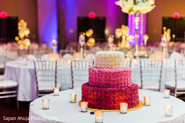 Indian wedding cake in Chicago, IL Indian Wedding by Sapan Ahuja Photography