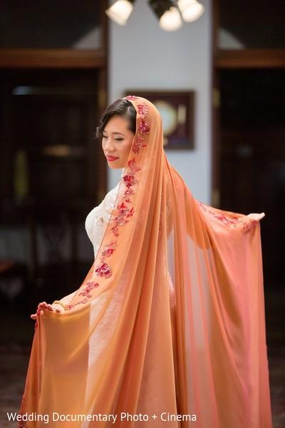 fusion wedding,indian fusion wedding,dupatta