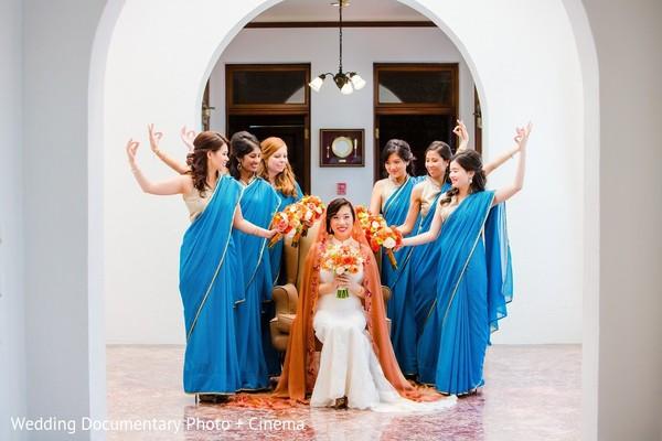 fusion wedding,indian fusion wedding,bridal party,indian bridal party,indian wedding party,wedding party,indian bridal party portraits,wedding party portraits,indian wedding party portraits,bridesmaids sarees,bridesmaids saris,bridesmaid saree,bridemaid sari,indian bridesmaids,indian wedding bridesmaids