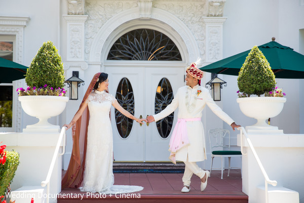 First Look in San Jose, CA Indian Fusion Wedding by Wedding Documentary Photo + Cinema