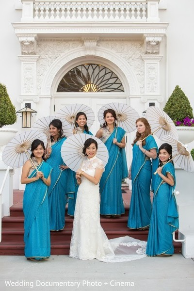 Bridal Party in San Jose, CA Indian Fusion Wedding by Wedding Documentary Photo + Cinema