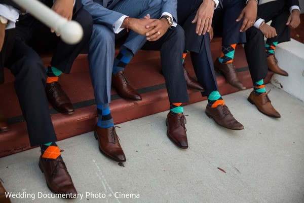 Groomsmen in San Jose, CA Indian Fusion Wedding by Wedding Documentary Photo + Cinema