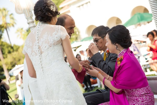 Ceremony in San Jose, CA Indian Fusion Wedding by Wedding Documentary Photo + Cinema