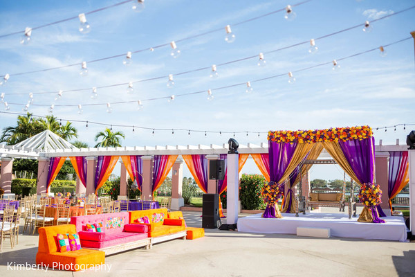 Mehndi party floral and decor in St. Petersburg, FL Pakistani Wedding by Kimberly Photography