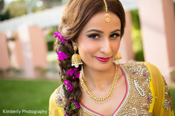 Mehndi night portraits in St. Petersburg, FL Pakistani Wedding by Kimberly Photography