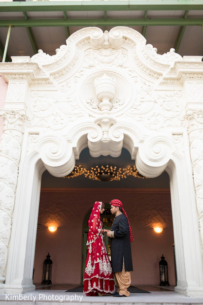 First look in St. Petersburg, FL Pakistani Wedding by Kimberly Photography