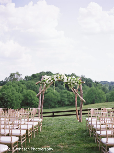 Ceremony decor in Purcellville, VA Indian Fusion Wedding by Amelia Johnson Photography
