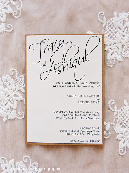 Modern indian wedding invitations in Purcellville, VA Indian Fusion Wedding by Amelia Johnson Photography